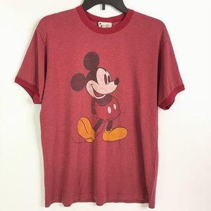 Disney Mickey Mouse Red Vintage Tee Shirt Large